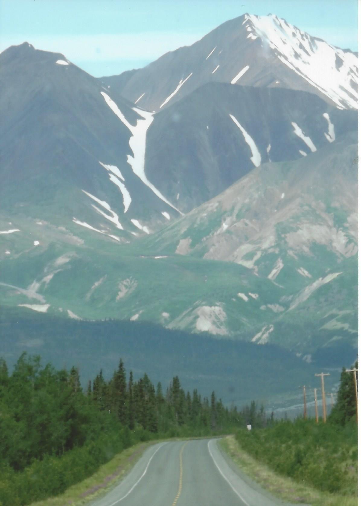 Driving through Alaska