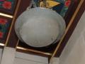 Chandelier made from WWI Helmet