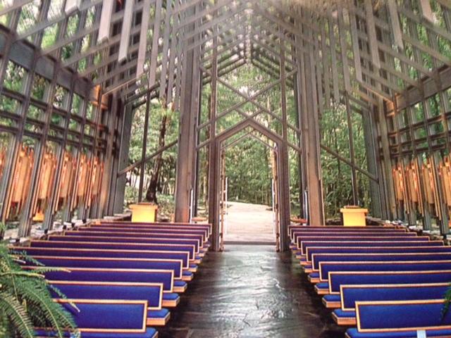 Thorncrown Chapel near Eureka Springs, AR