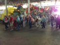 Exploring all the costumes and floats in Mardi Gras World!