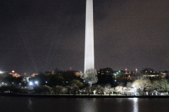 Washington Monument at night jm